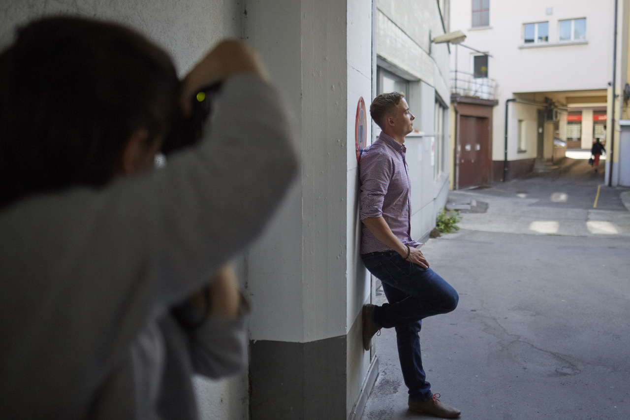 Cyril beim Foto-Workshop